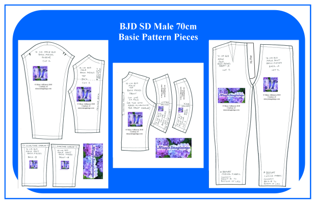 BJD SD Male 70c Basic Pieces