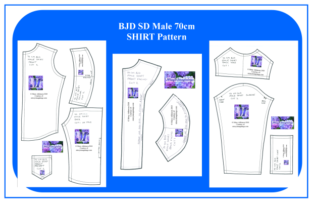 BJD SD Male 70cm SHIRT Pattern