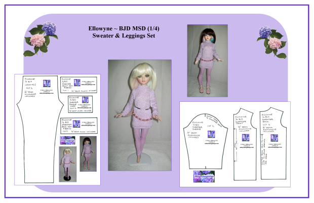Ellowyne ~ BJD MSD Sweater Set