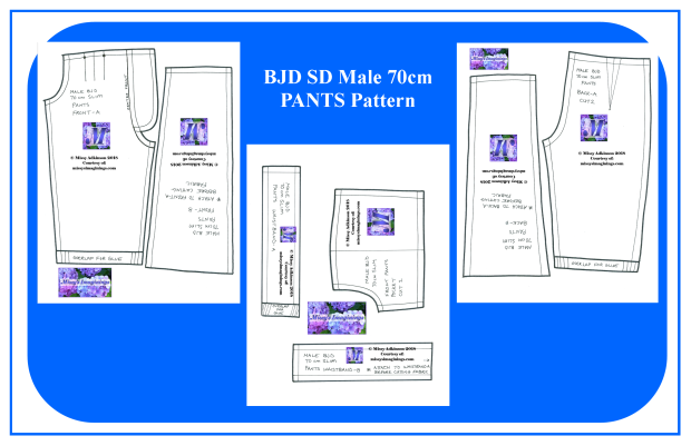 BJD SD Male 70cm PANTS Pattern