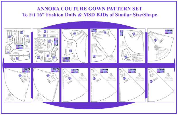 Annora Couture Gown Pattern Set