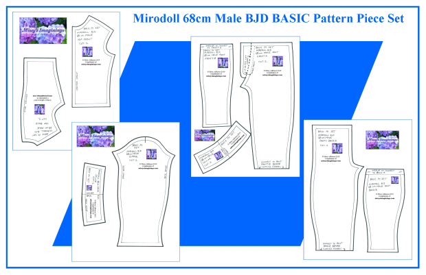 Mirodoll 68cm Male BASIC Set