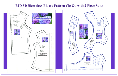 BJD SD Sleeveless Blouse