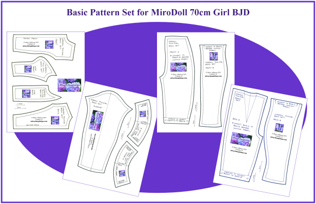 Basic Set for MiroDoll 70cm Girl
