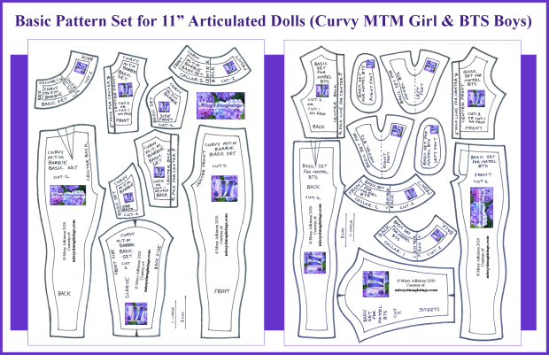 11 Inch Articulated Curvy & BTS - Basic Set
