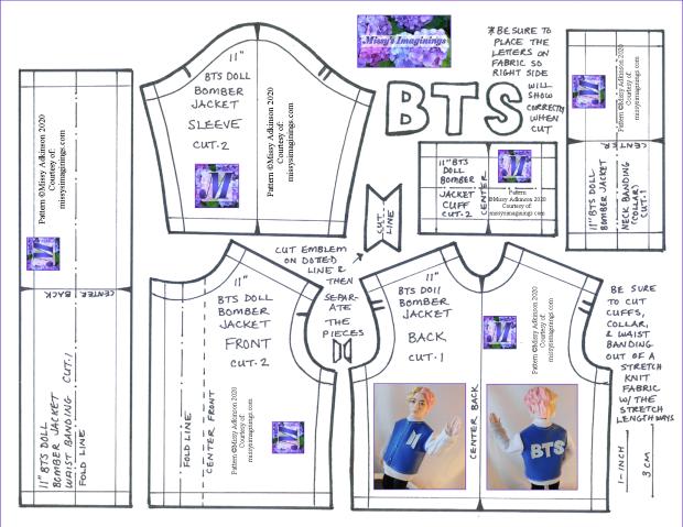 11inch BTS Doll Bomber Jacket