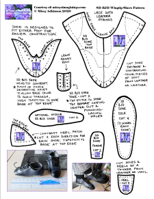 SD BJD Wingtip Shoes Pattern