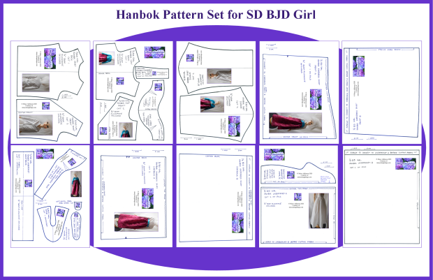 SD BJD Girl Hanbok Pattern