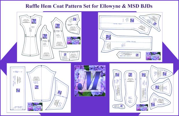Ellowyne MSD Ruffle Hem Coat Set